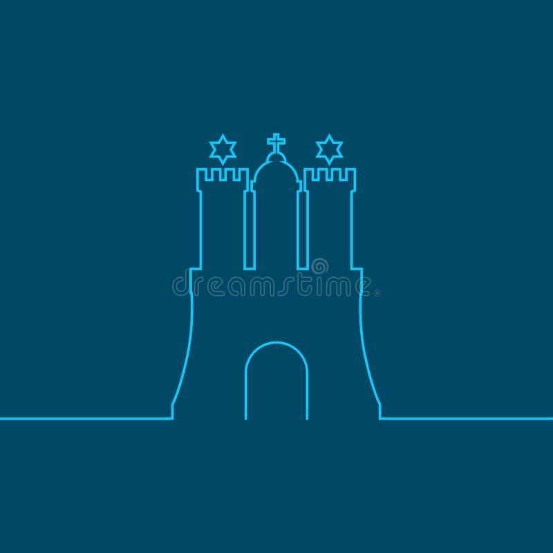 Emblema do porto de Hamburgo ilustração stock