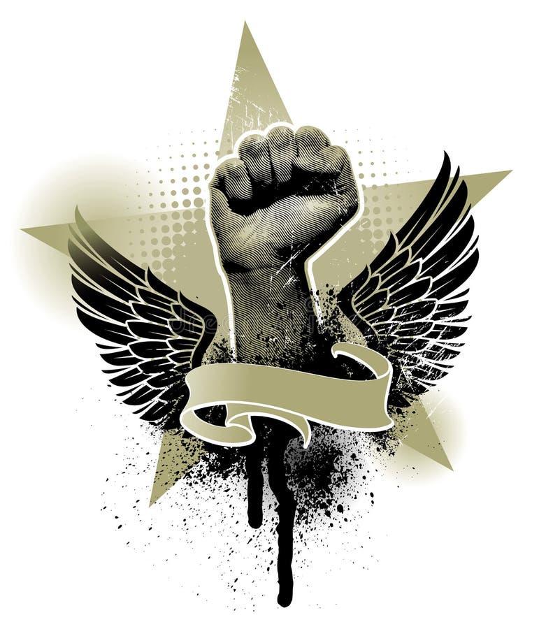 Emblema do protesto ilustração do vetor