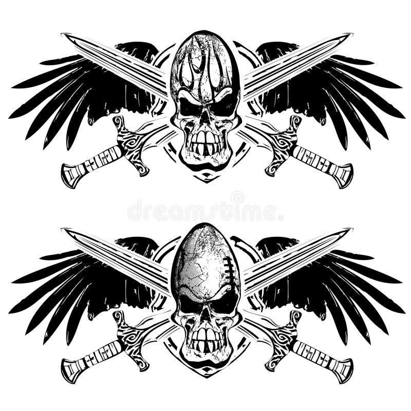 Emblema do protetor do futebol americano e do rugby ilustração royalty free