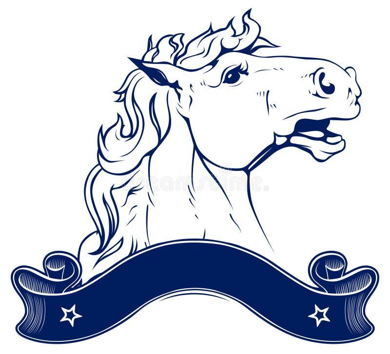 Emblema do rancho do cavalo ilustração stock