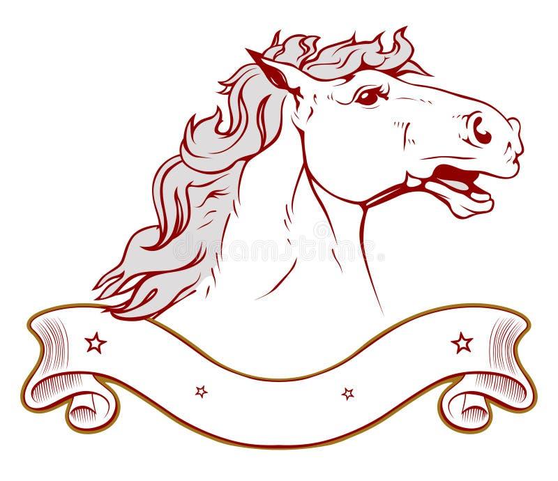 Emblema do rancho do cavalo na luz ilustração royalty free