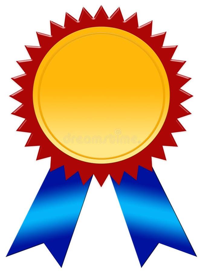 Emblema do vencedor ilustração royalty free