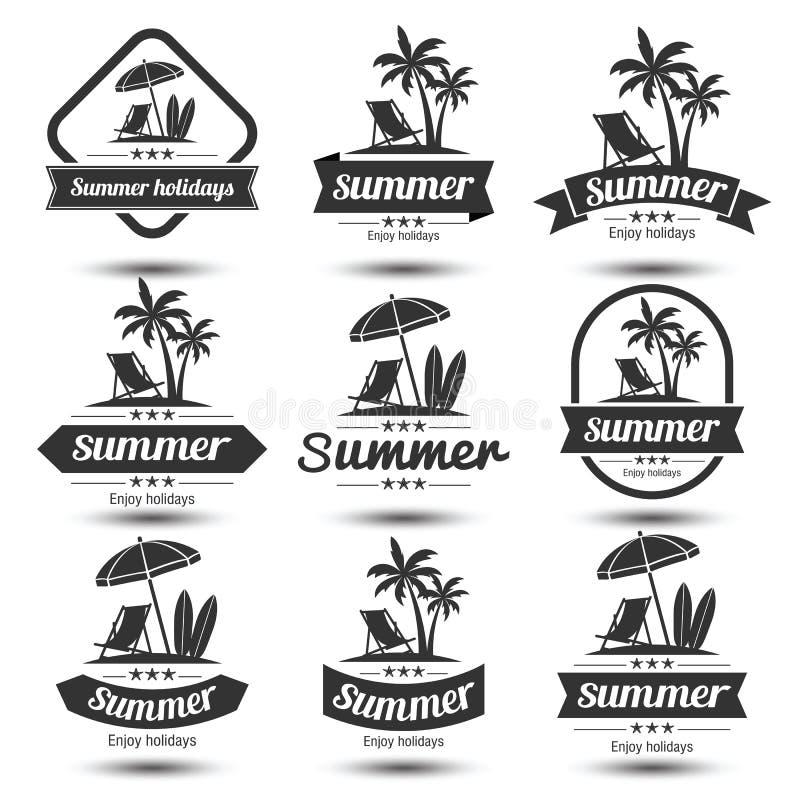 Emblema do verão ilustração stock