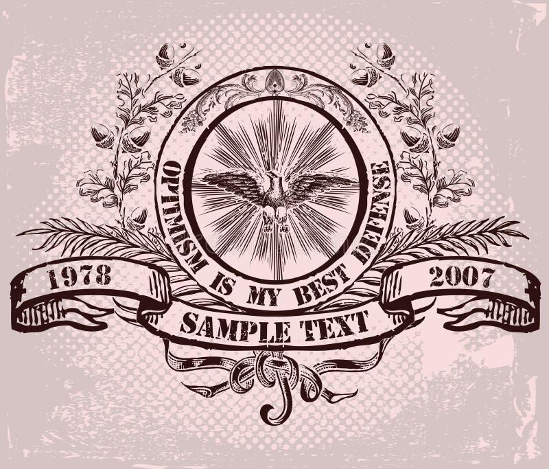Emblema do vetor ilustração royalty free