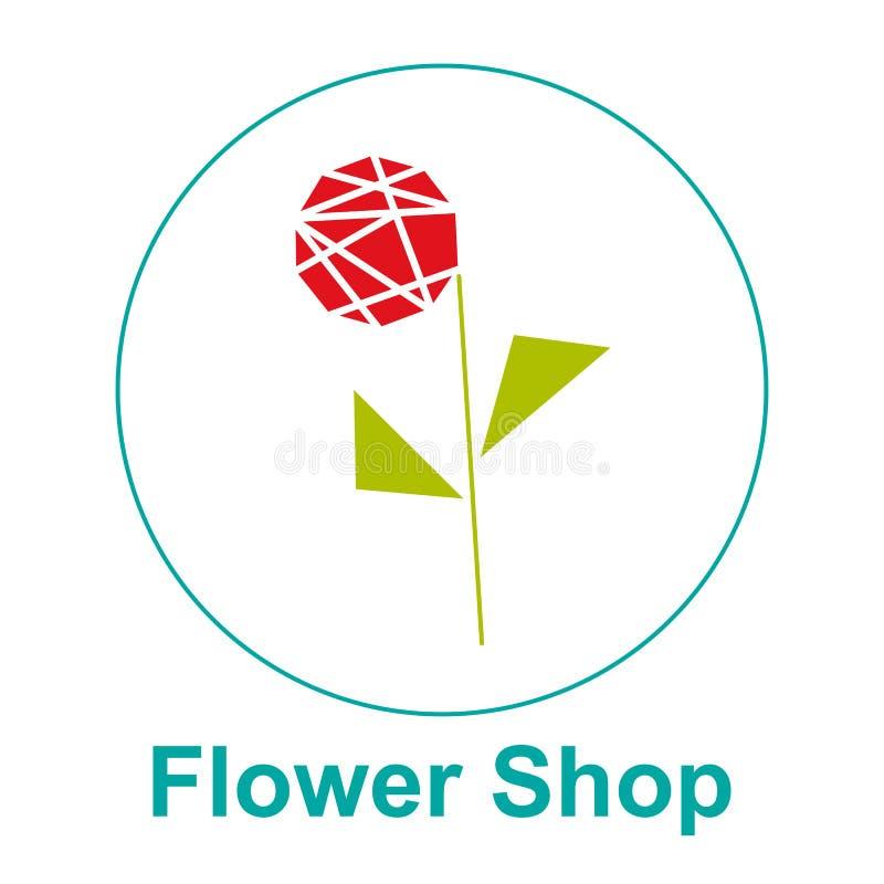 Emblema do vetor do logotipo do florista, etiqueta ilustração royalty free