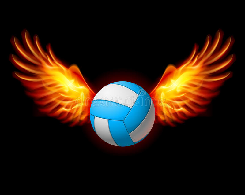Emblema do voleibol ilustração stock
