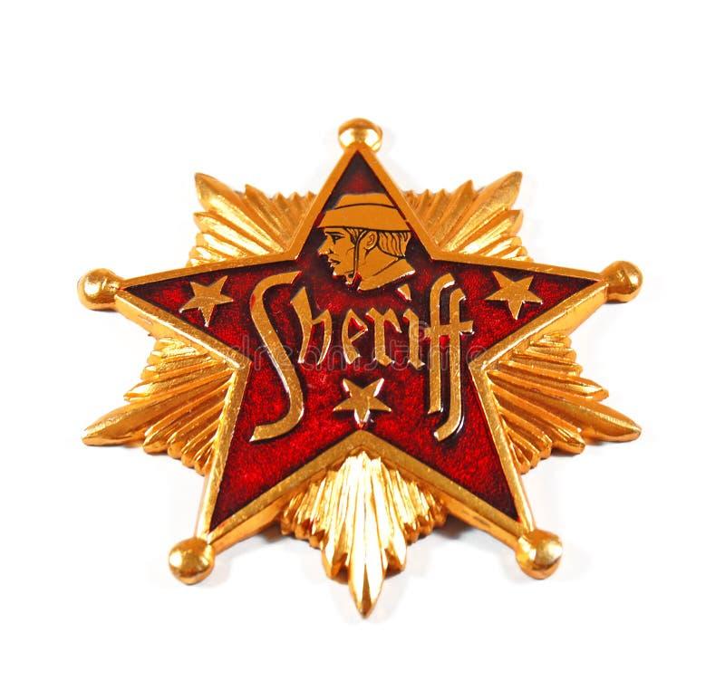 Emblema do xerife fotografia de stock royalty free