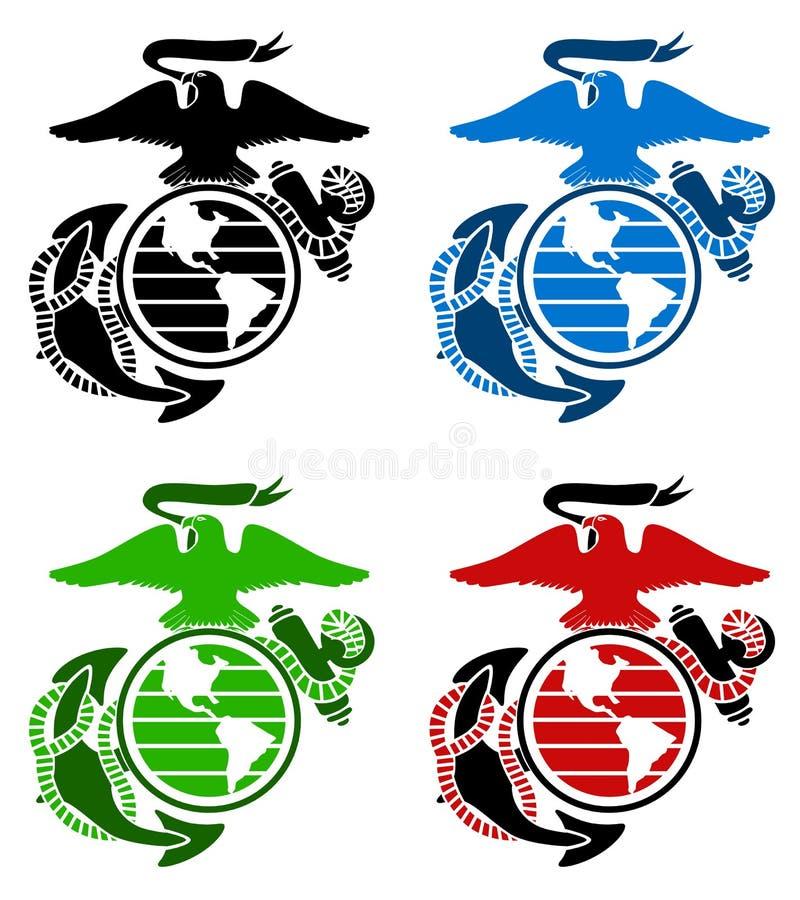 Emblema dos fuzileiros navais dos E.U. ilustração stock