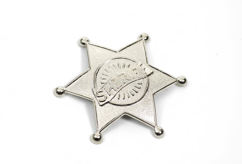 Emblema dos xerifes fotografia de stock