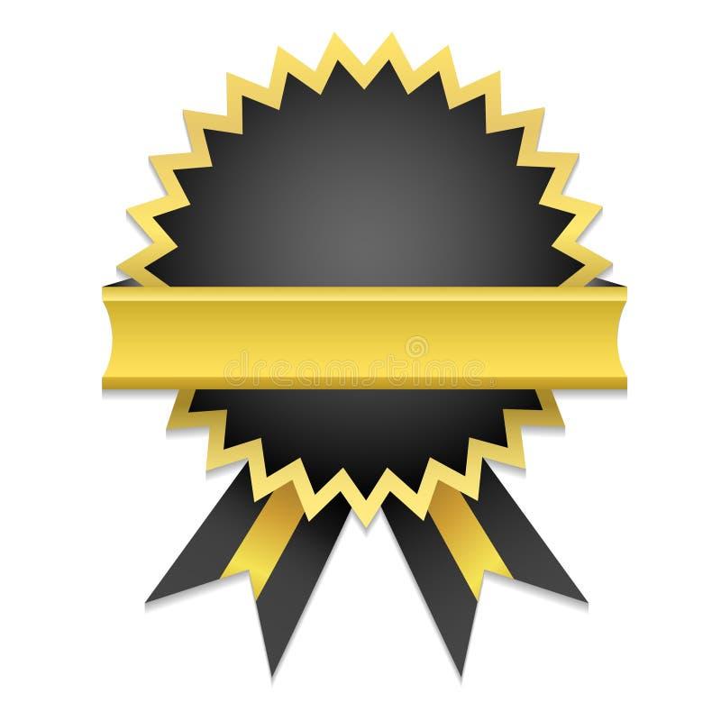 Emblema dourado ilustração do vetor