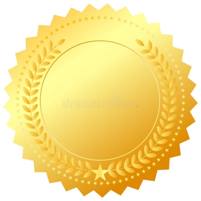 Emblema dourado da concessão ilustração stock