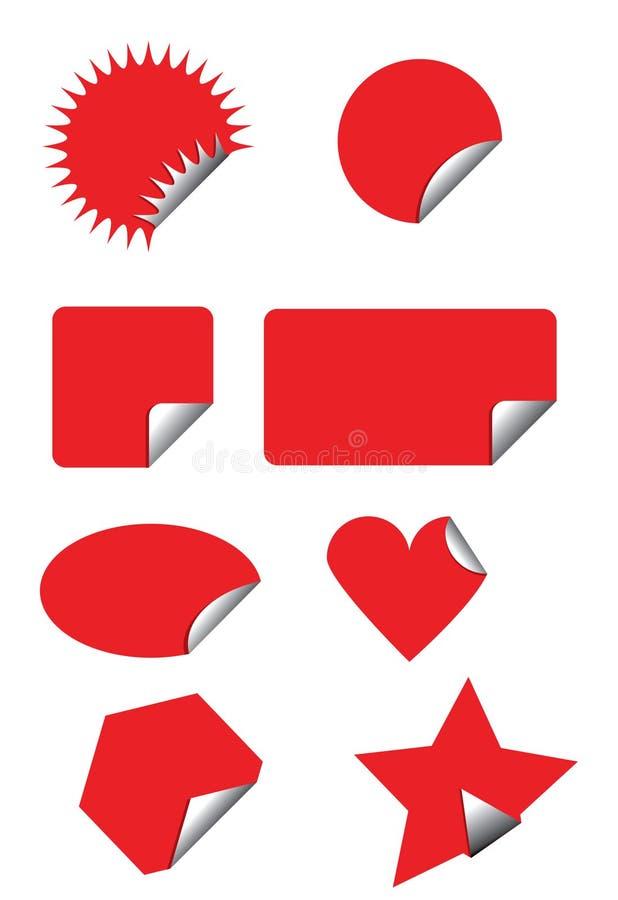 Emblema e etiqueta do preço ilustração royalty free