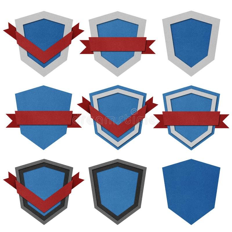 Emblema do vintage e papel recicl etiquetas. fotos de stock royalty free