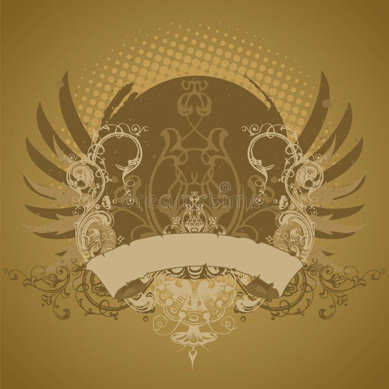 Emblema, elemento del diseño ilustración del vector