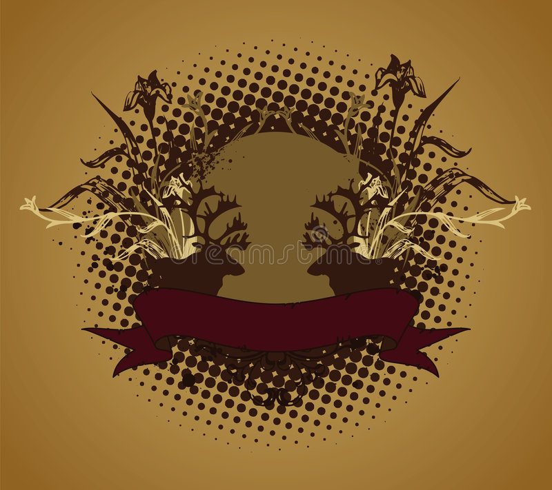 Emblema, elemento do projeto ilustração royalty free