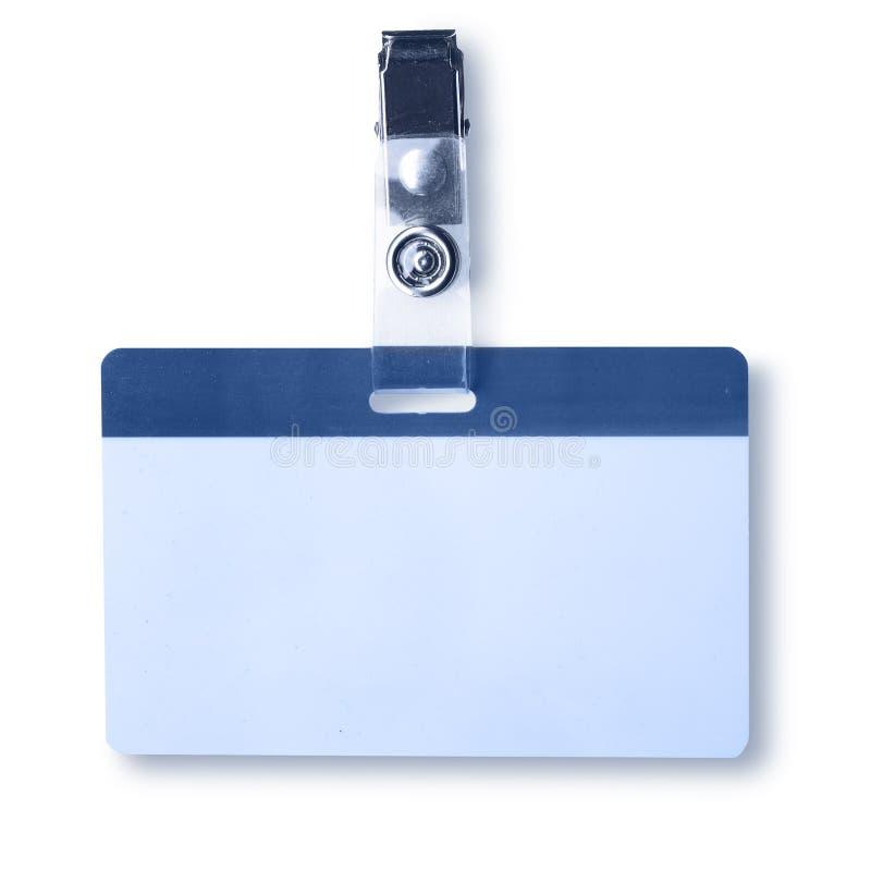 Emblema em branco fotografia de stock