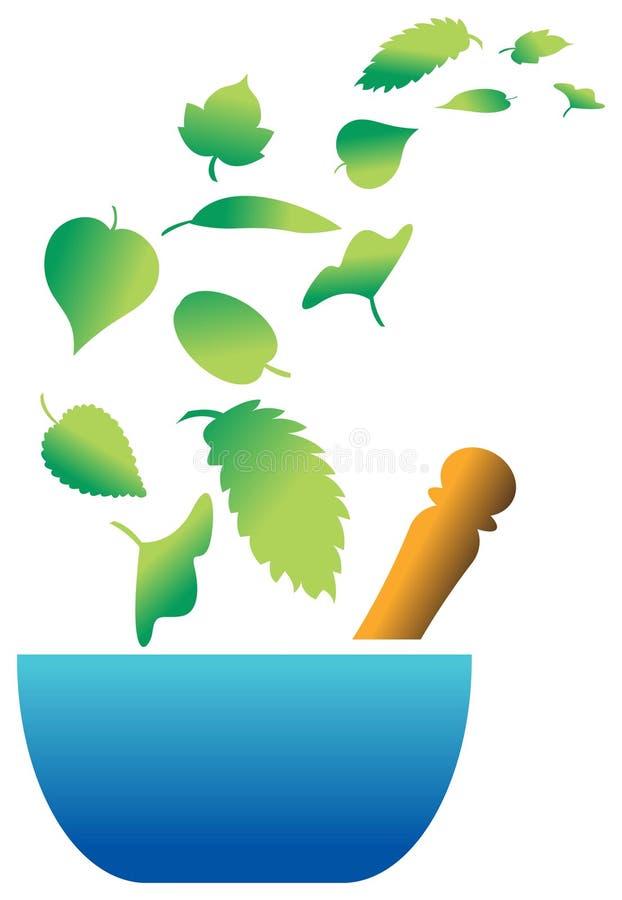Emblema erval ilustração stock