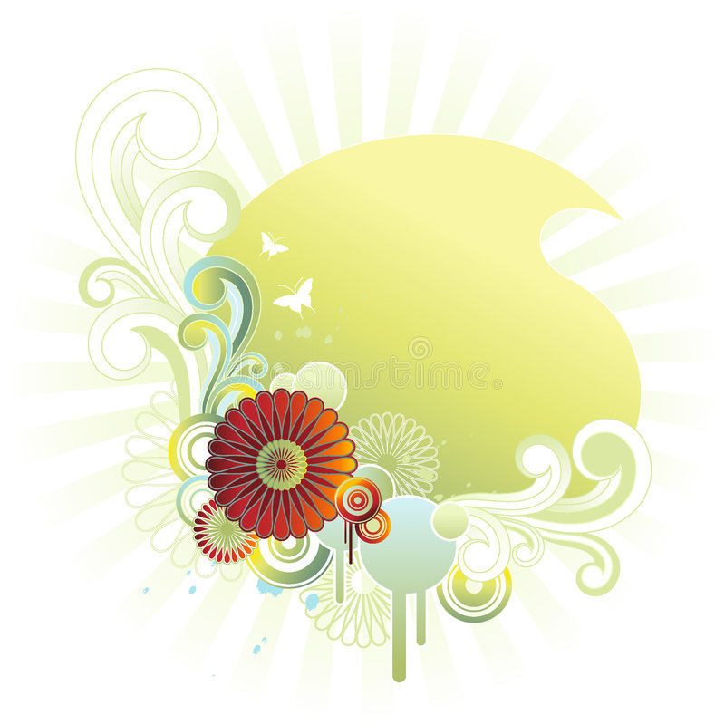 Emblema floreale royalty illustrazione gratis