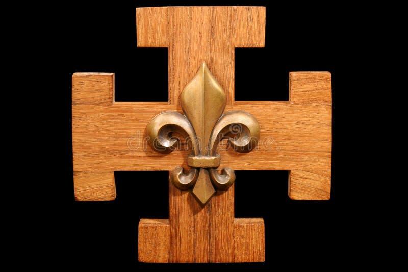 Emblema francês do escuteiro fotos de stock royalty free
