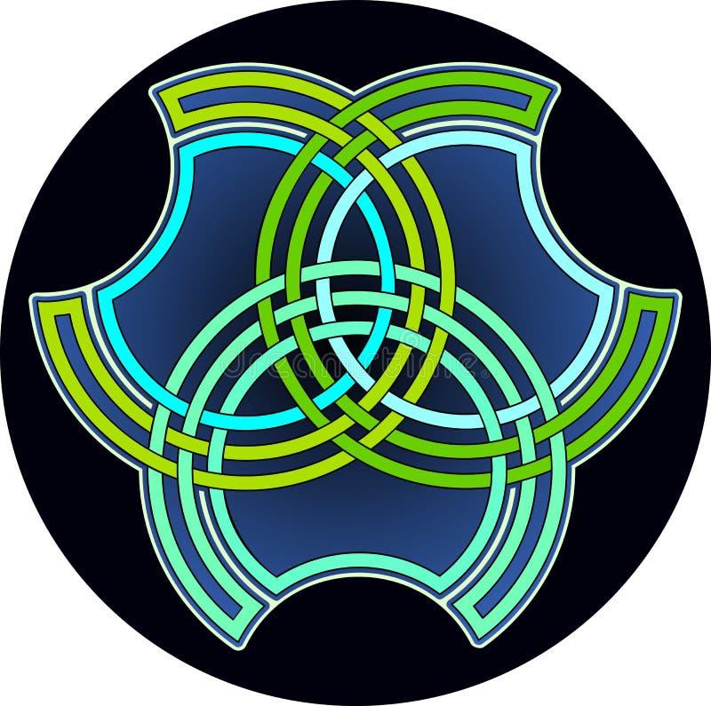 Emblema geometrico illustrazione vettoriale