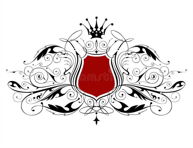 Emblema heráldico de la vendimia ilustración del vector