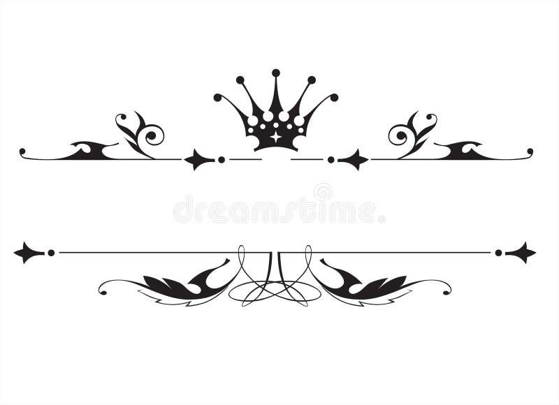 Emblema heráldico do vintage ilustração stock