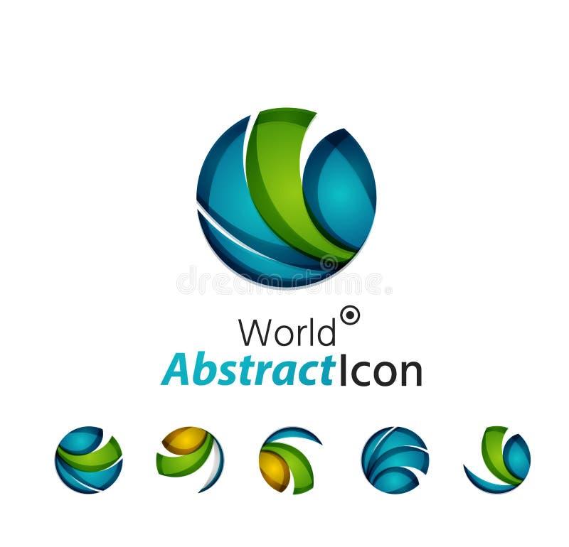 Emblema incorporado do negócio geométrico abstrato ilustração stock
