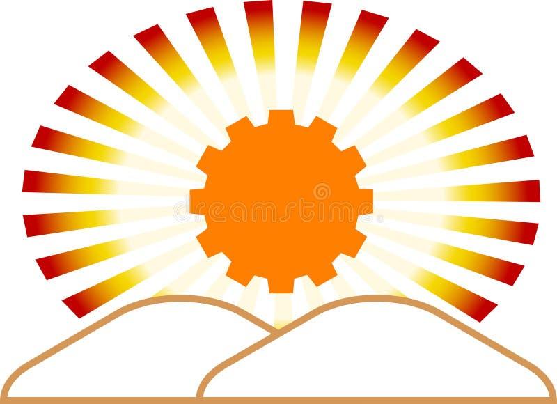 Emblema industrial ilustração do vetor