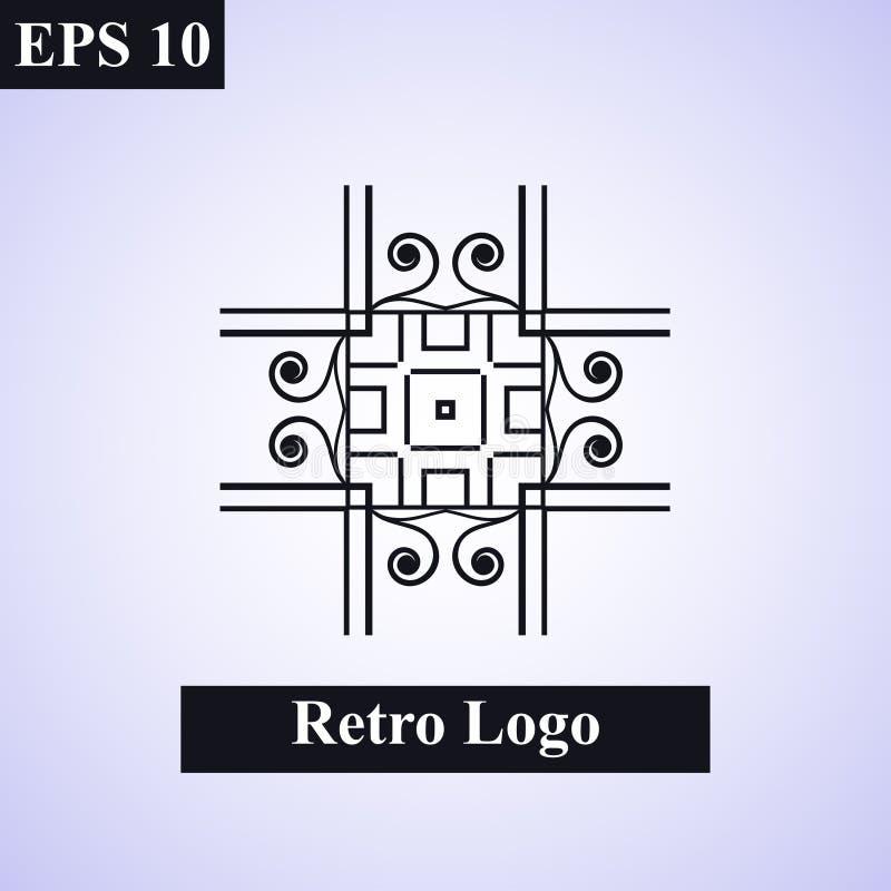 Emblema islamico ornamentale d'annata Illustrazione di disegno floreale element Simbolo geometrico di art deco Linea insegne, log royalty illustrazione gratis