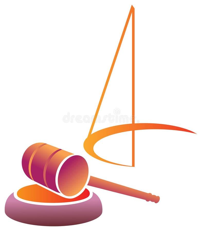 Emblema judicial stock de ilustración