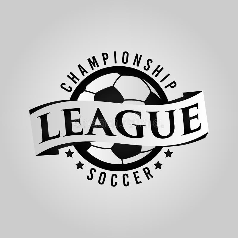 Emblema Logo Symbol da liga de futebol foto de stock royalty free