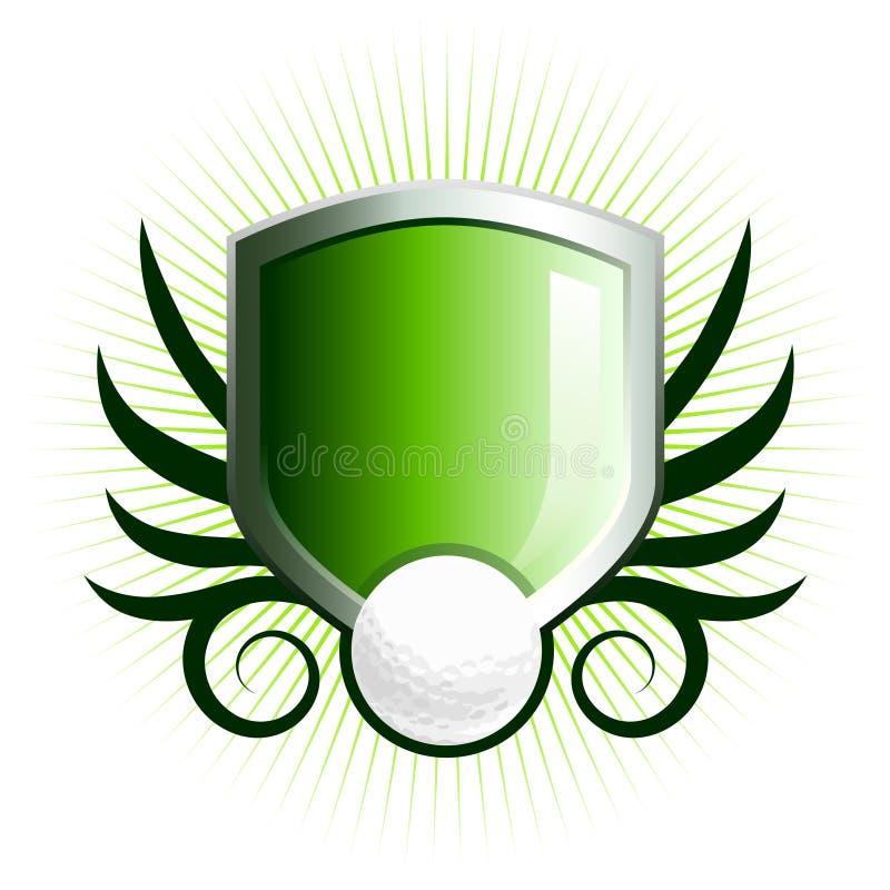 Emblema lucido dello schermo di golf royalty illustrazione gratis
