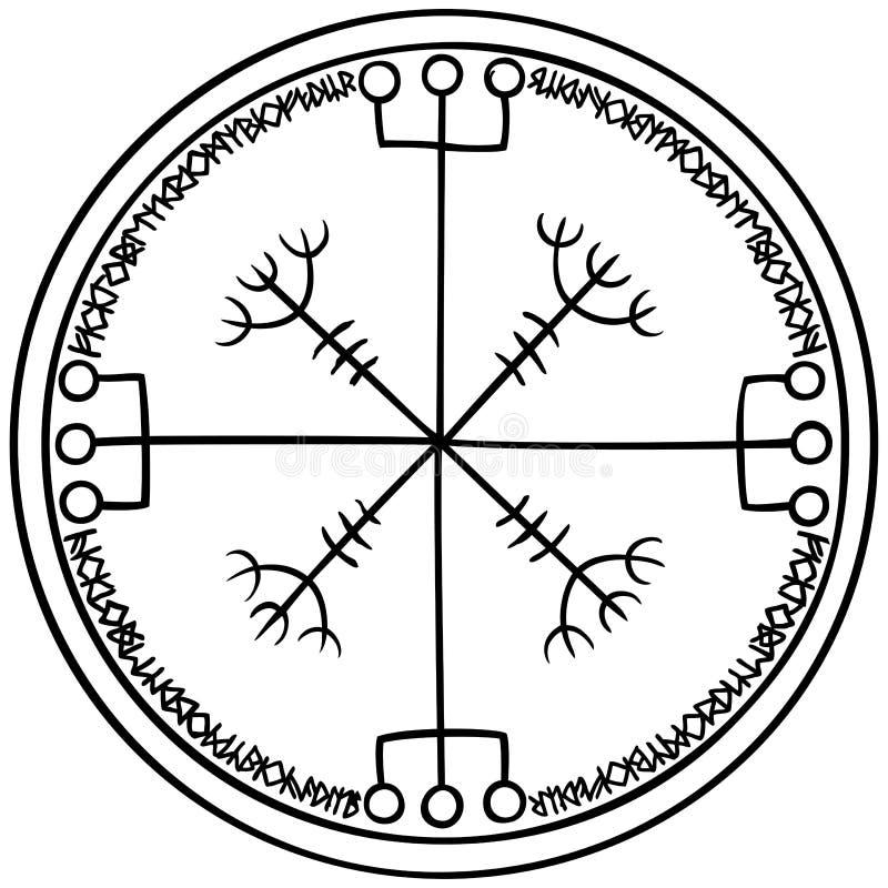 Emblema magico di fantasia di Viking immagine stock