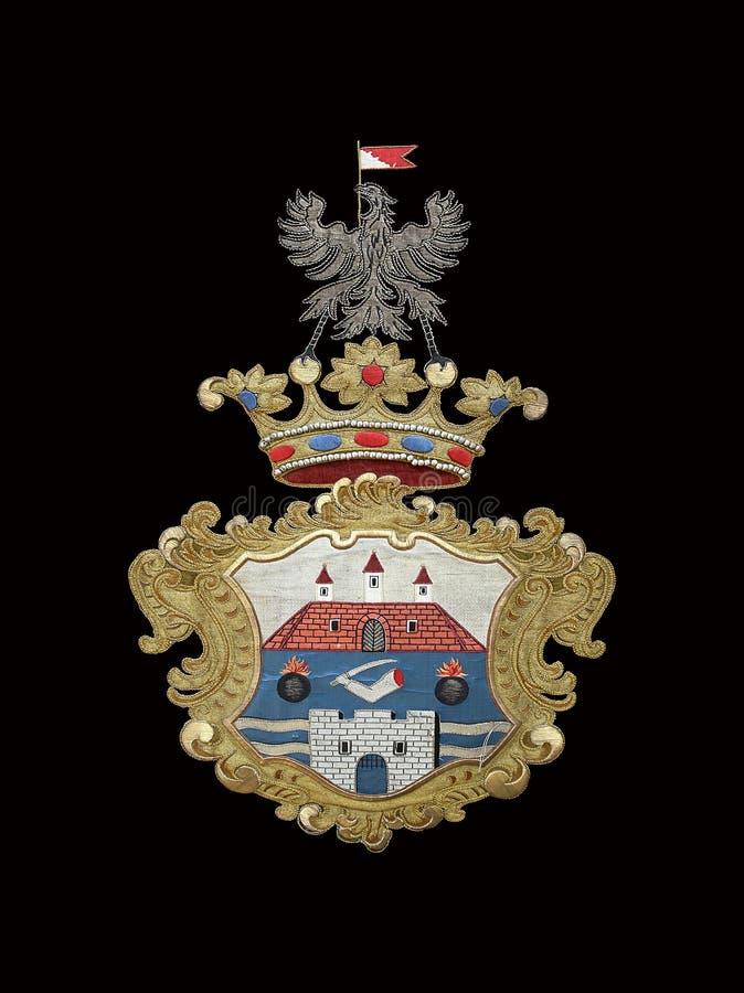 Emblema medieval fotografía de archivo libre de regalías