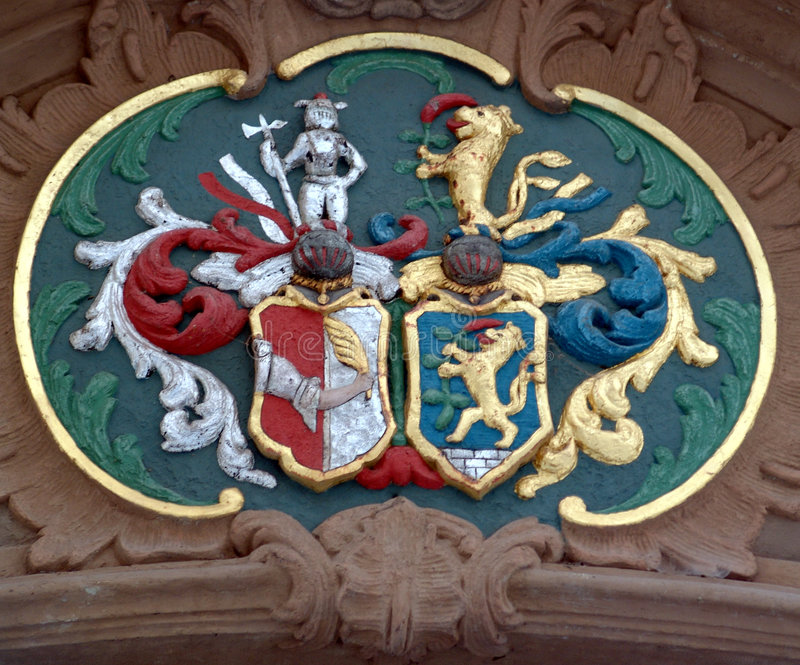 Emblema medioevale fotografia stock