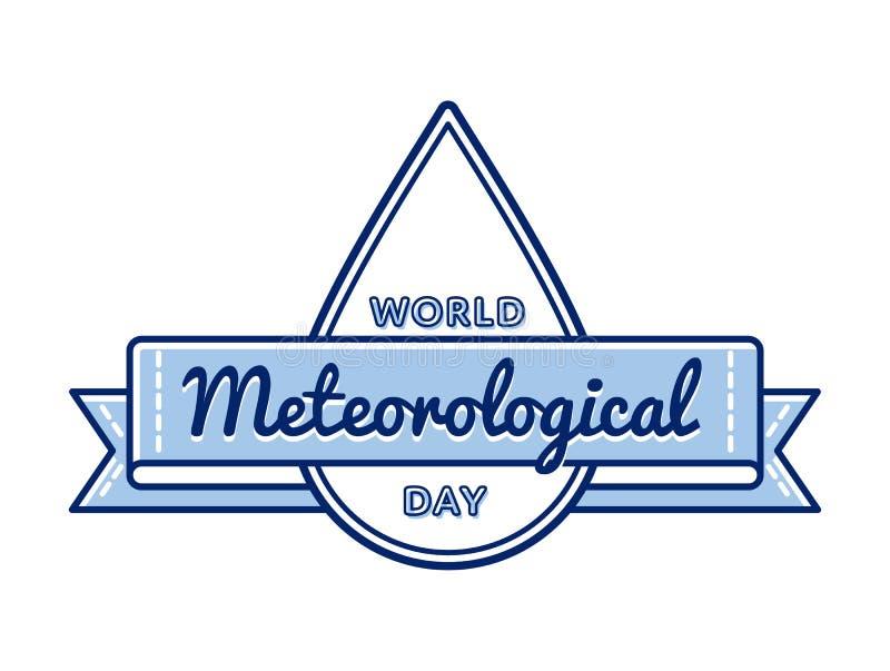 Emblema meteorológico do cumprimento do dia do mundo ilustração do vetor