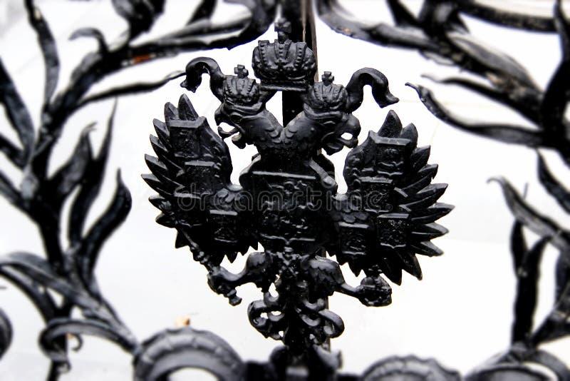 Emblema nacional do russo foto de stock