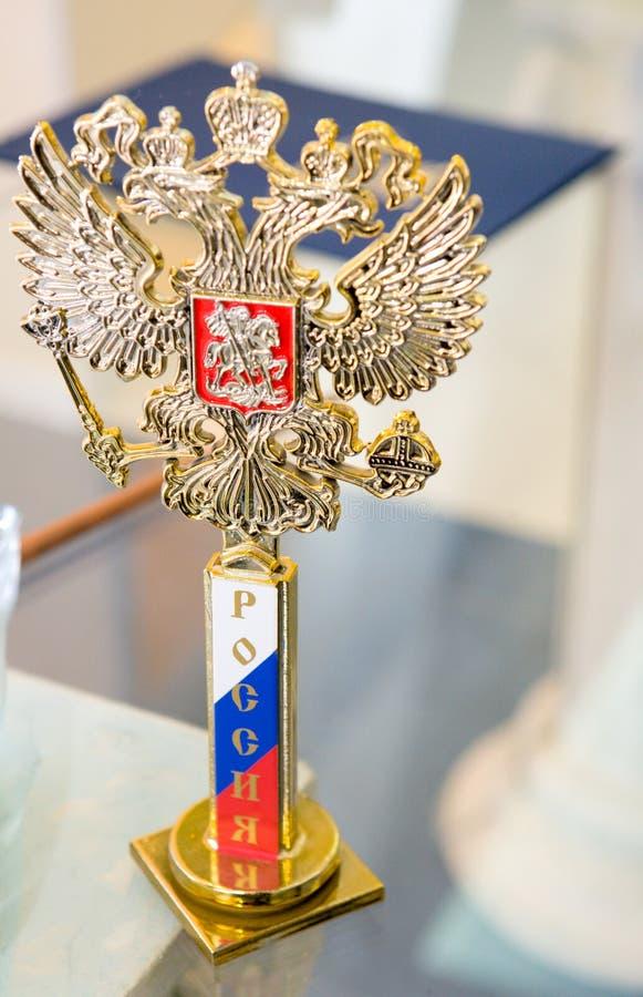 Emblema Nazionale Della Russia Fotografia Stock
