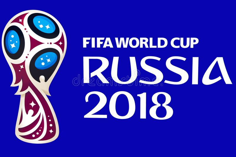 Emblema oficial de WC 2018 imagens de stock royalty free