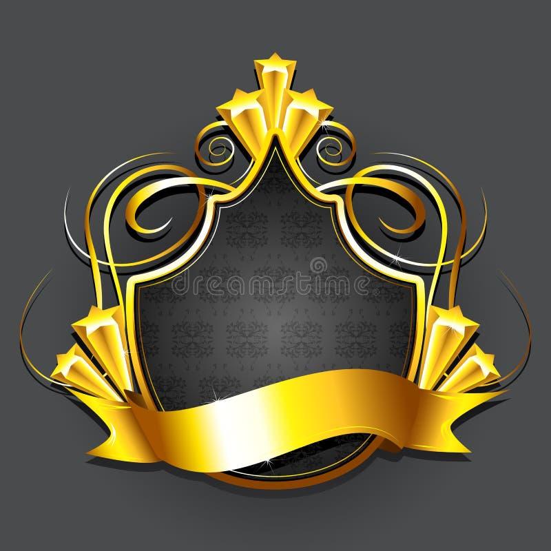 Emblema real dourado ilustração stock