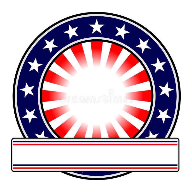 Emblema redondo com espaço da cópia ilustração do vetor