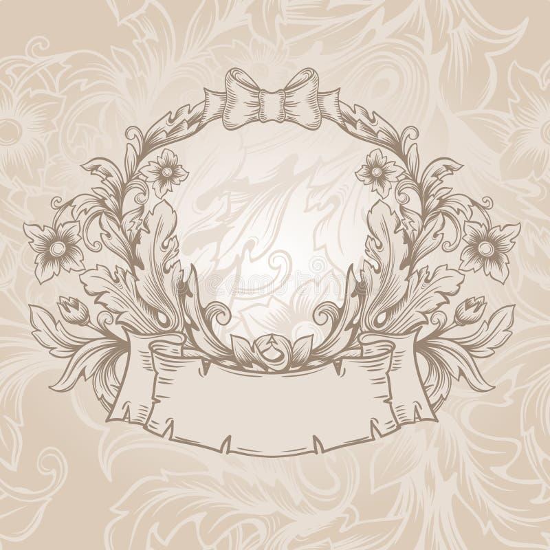 Emblema retro del vintage. libre illustration