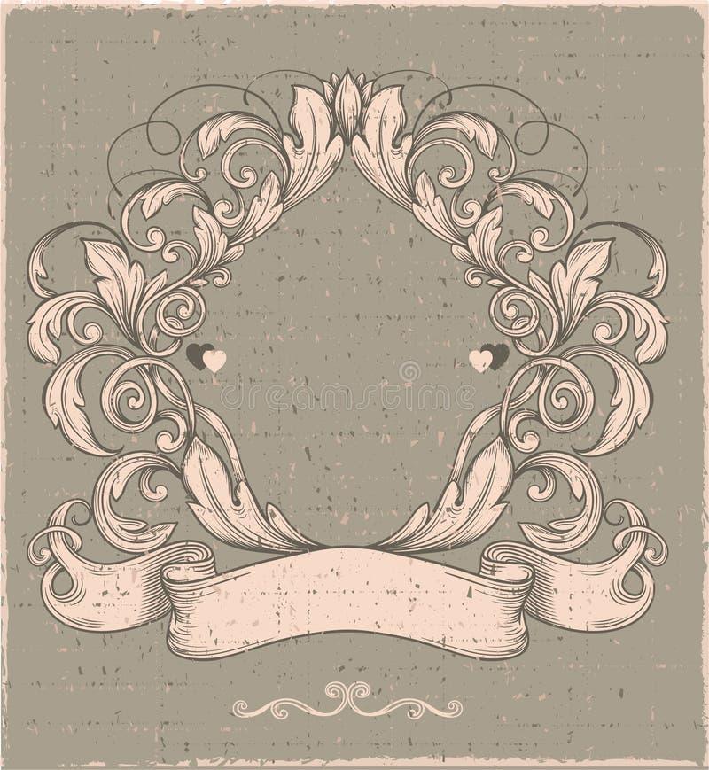 Emblema retro del vintage ilustración del vector
