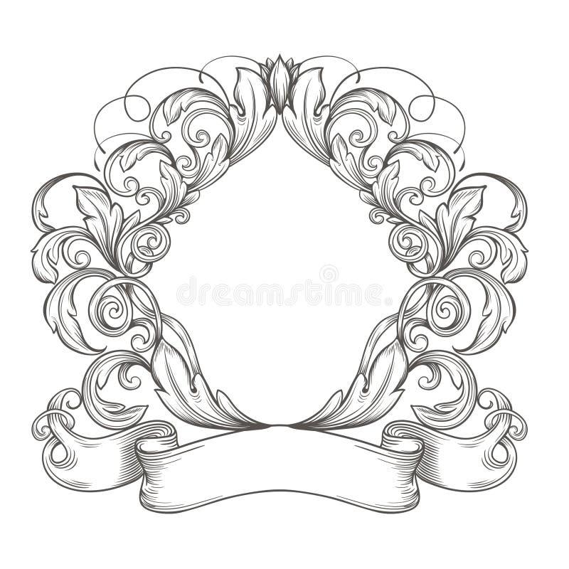 Emblema retro del vintage stock de ilustración
