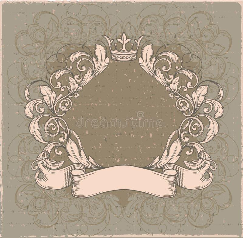 Emblema retro del vintage, libre illustration