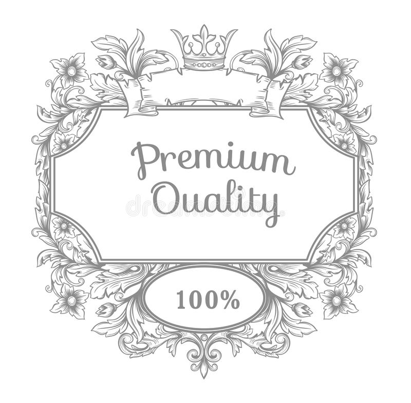 Emblema retro del vintage. stock de ilustración