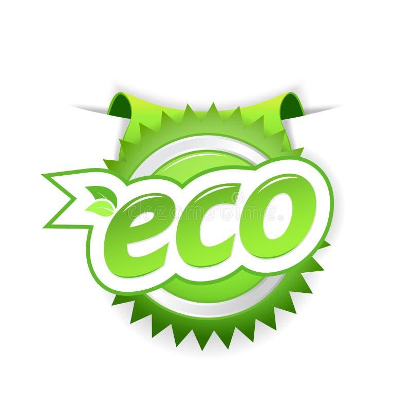 Emblema verde da ecologia. ilustração stock
