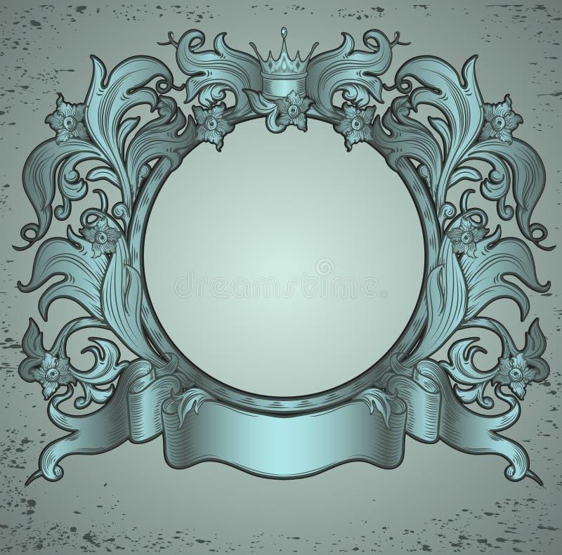 Emblema verde de la vendimia libre illustration