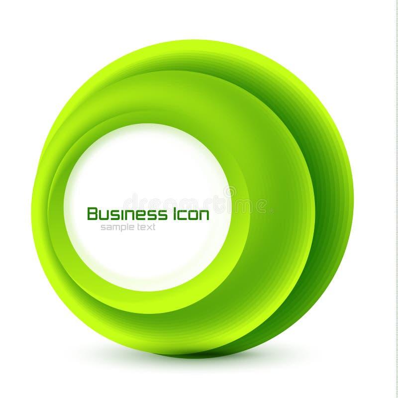 Emblema verde do negócio do eco ilustração do vetor