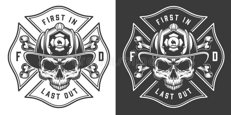 Emblemas contraincendios monocromáticos libre illustration